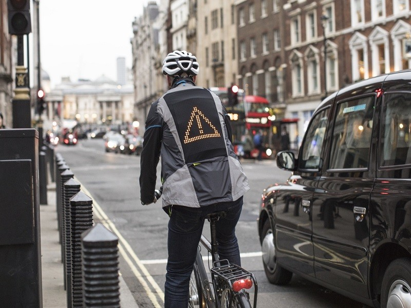 Ford unveils 'emoji jacket' for cyclists to tell drivers their mood